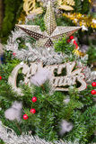 Star on christmas tree Royalty Free Stock Photography