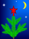 Star on Christmas tree Royalty Free Stock Image