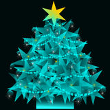 Star Christmas tree. A Christmas tree made out of shinny stars Stock Images