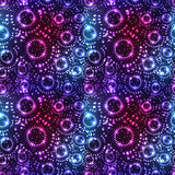 Star circle effect dot fly seamless pattern Stock Photography