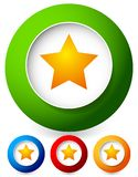 Star in a circle icon. Vector graphics stock photography