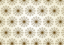 Star Circle Line and Center Flower Pattern on Past Royalty Free Stock Photos