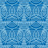 Star circle point blue light stripe background seamless pattern. This illustration is design star circle point with blue and light colors striped background in Royalty Free Stock Image