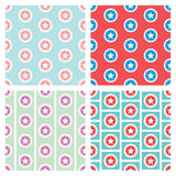 Star in circle seamless pattern background Stock Images