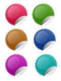 Star Circle Stickers Royalty Free Stock Images