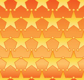 Star circle symmetry seamless pattern. This illustration is design star with circle connect in symmetry bright yellow and orange gradient colors in seamless Royalty Free Stock Photography