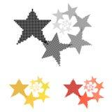 Star. Circular ornament. Reducing the size. Cross-stitch. Stock Photo