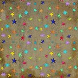 Star circus carnival holiday abstract pattern on grunge scratched background. Star circus carnival holiday abstract pattern on grunge scratched stock illustration