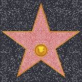 Star Classic film camera (Hollywood Walk of Fame). Hollywood Walk of Fame - Classic film camera representing motion picture Royalty Free Stock Images