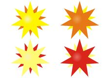 Vector star. Vector ilustration of four multicolor stars clipart stock illustration