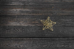 Star closeup on wooden background new year, Christmas. ! Stock Images
