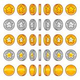 Star coins rotation Stock Photo