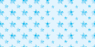 Star cold blue symmetry combine seamless pattern Stock Image