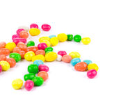 Star of colored pills. Stock Image