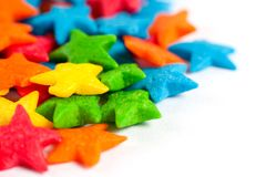 Star colorful candies Stock Photos
