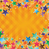 Star colorful frame effect Royalty Free Stock Photo