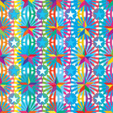 Star colorful ray colorful stripe seamless pattern Stock Images