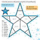 Star coloring math design Royalty Free Stock Photos