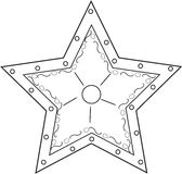 Star coloring page Royalty Free Stock Photo