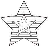 Star coloring page Royalty Free Stock Images