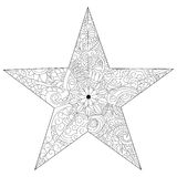 Star coloring vector for adults Royalty Free Stock Image