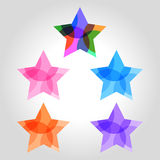 Star logo, icon and symbol vector illustration Royalty Free Stock Image