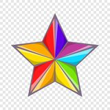 Star in colours of LGBT icon, cartoon style. Star in colours of LGBT icon in cartoon style isolated on background for any web design stock illustration