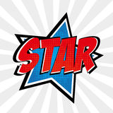Star comic Royalty Free Stock Images