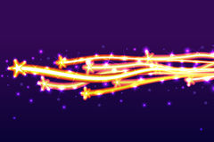 Star competition horizontal. Illustration star fly competition horizontal graphic backgrounds colorful bright Royalty Free Stock Images