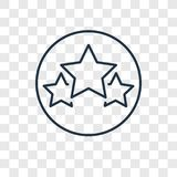 Star concept vector linear icon isolated on transparent background, Star concept transparency logo in outline style. Star concept vector linear icon isolated on royalty free illustration