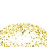 Star confetti. Gold random confetti background Stock Photo
