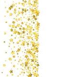 Star confetti. Gold random confetti background Royalty Free Stock Photo