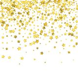 Star confetti. Gold random confetti background Royalty Free Stock Images