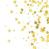Star confetti. Gold random confetti background Stock Photography