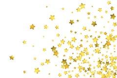 Star confetti. Gold random confetti background Royalty Free Stock Photos