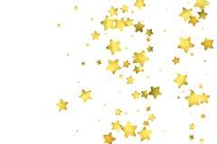 Star confetti. Gold random confetti background Royalty Free Stock Photography