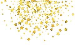 Star confetti. Gold random confetti background vector illustration