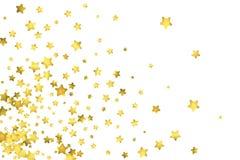 Star confetti. Gold random confetti background Stock Images