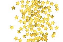 Star confetti. Gold random confetti background Stock Photos