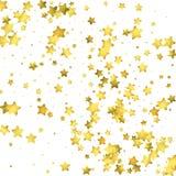 Star confetti. Gold random confetti background Royalty Free Stock Image