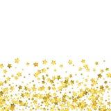 Star confetti. Gold random confetti background. Bright design template. Vector white and yellow cover template. Birthday or wedding invitation template Royalty Free Illustration