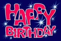 Star congratulations happy birthday. Stock Photo