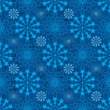 Star connect symmetry blue seamless pattern Stock Photo