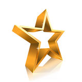 Star contour made of gold Stock Images