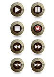 Star control player button Stock Image