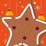 Star cookie design. Star cookie icon over orange background, vector illustration vector illustration