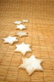 Star cookies on  doormat Royalty Free Stock Images