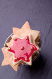 Star cookies with red jelly Stock Images