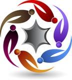 Star couple logo Royalty Free Stock Image