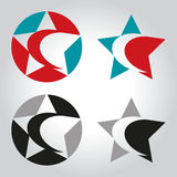 Star and crescent logo, icon and symbol vector illustration Stock Photography
